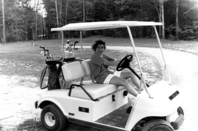 Katie Massa Drives the Golf Cart, 1994