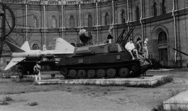 Jeffrey Carl at the St. Petersburg Artillery Museum, 1993