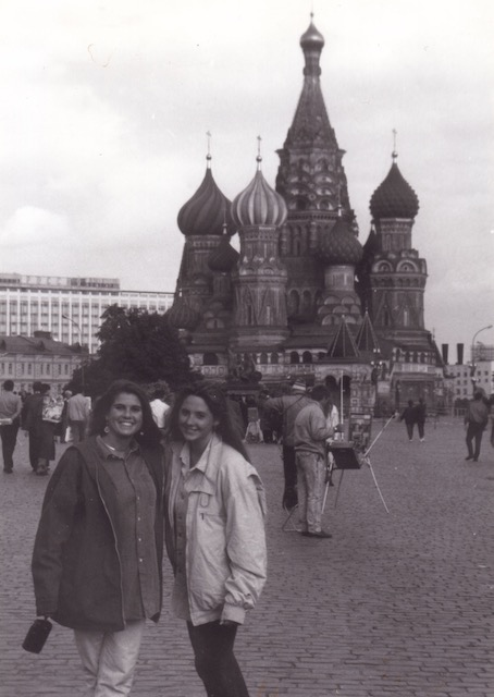 Leigh Pezzicara and Kim Roberts in Red Square, 1993
